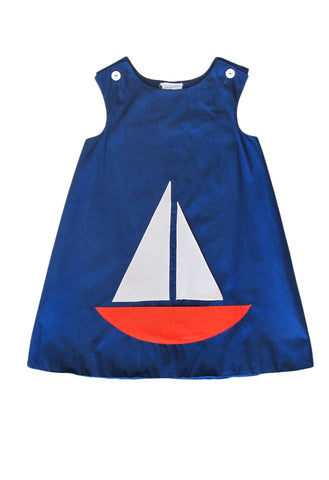 Sailor Girl Dress / 7 yo