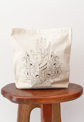 RUSTY CUTS Palmistry Tote Bag