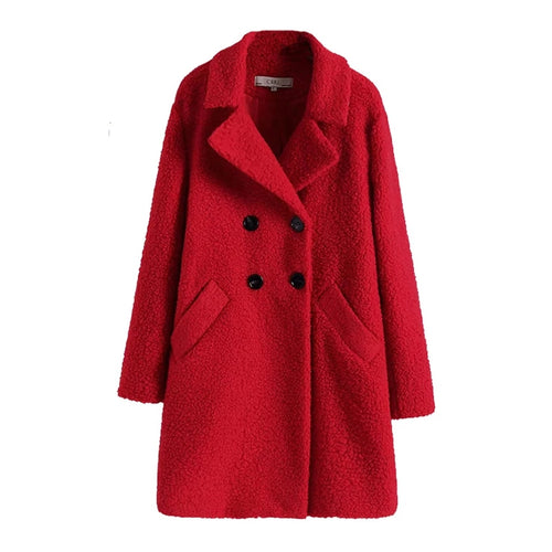 WARM WOMEN FLUFFY PLUSH COAT