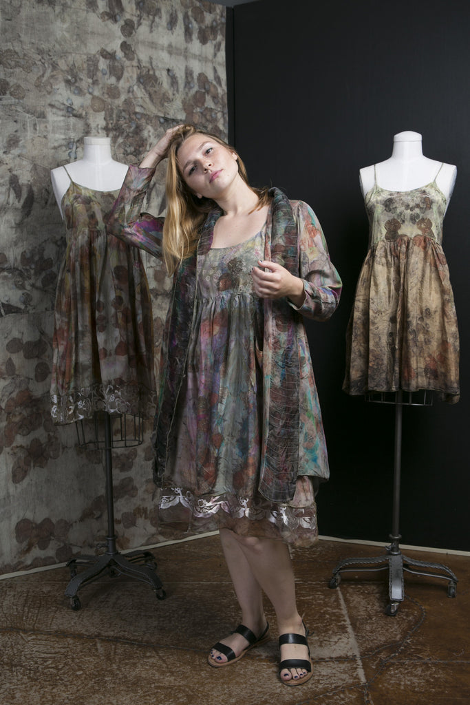 Eco Dye with Ribbons Silk Organza Jacket