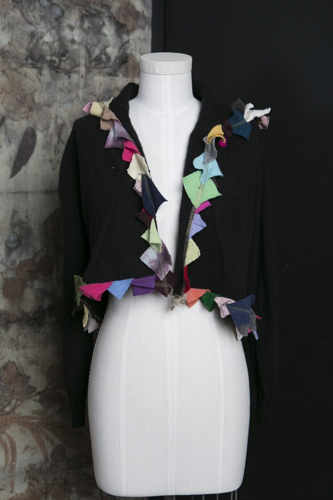 Cashmere Triangle Trim Shrug