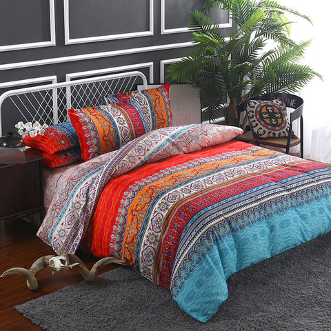 Bohemian ethnic style fashion personality bed four-piece
