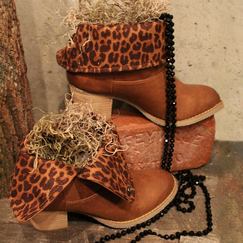 Gentlewomanly Leopard Print Chunky Heels Ankle Boots