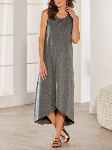 Round Neck Sleeveless Casual Dresses