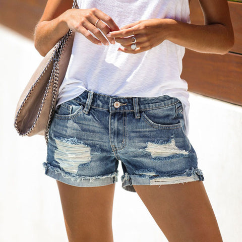 Fashion Casual Wild Short Jeans