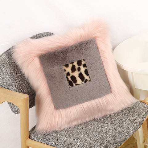 Nordic Style Stitching Cashmere Square Sofa Pillow