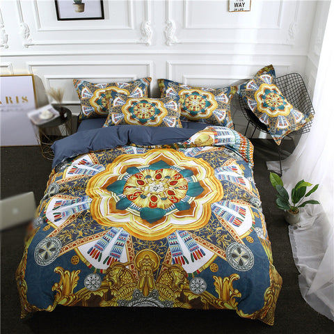 Bohemian Style Printing And Dyeing Three-Piece Bedding