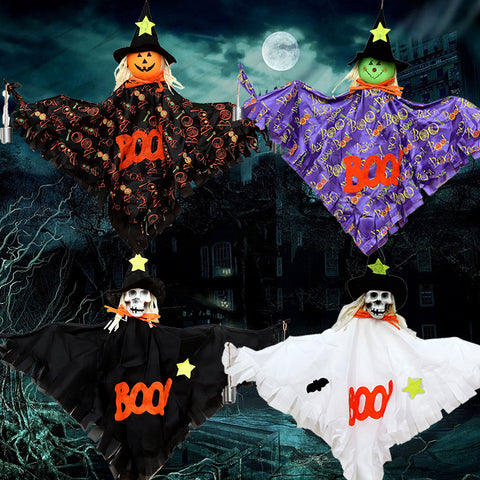 Halloween Hanging Bells Scarecrow Girl Witch