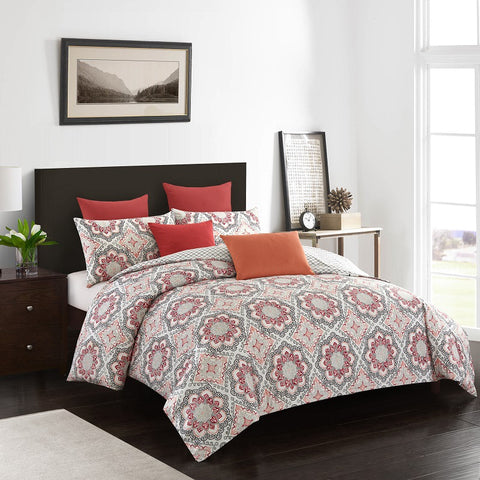 Ethnic Printed Three-piece Bed Cover Set
