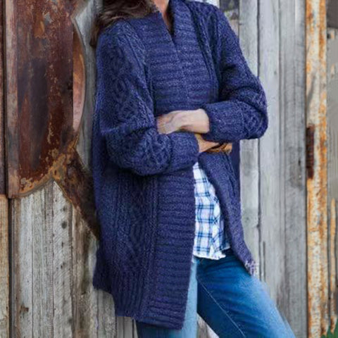 Fashion Lady Solid Color Cardigan Sweater
