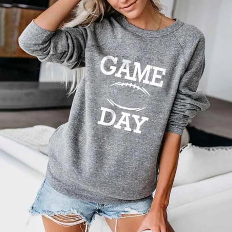 Casual Letter Round Neck Long Sleeve Sweatshirt
