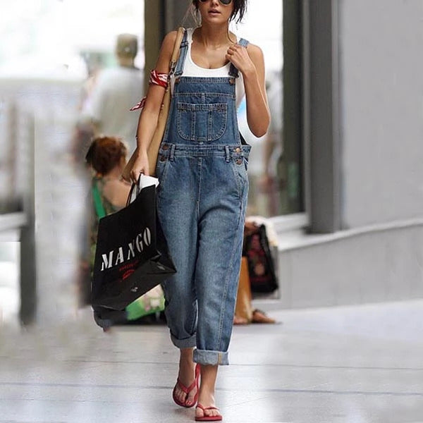 Spaghetti Strap  Backless Plain Sleeveless Overalls Jumpsuits