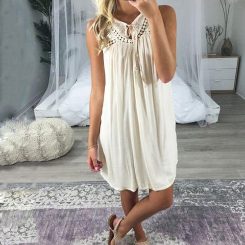 Women Casual Sleeveless Midi Dresses