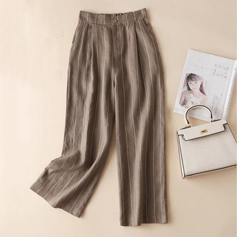 Sweet Striped Linen Pants