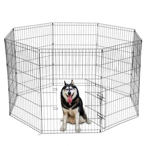 8 Panel Portable Folding Playpen Wire Fence Dog