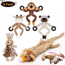 Load image into Gallery viewer, 5pc Animal Shape Dog Toys