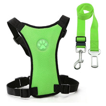 Load image into Gallery viewer, Nylon Breathable Mesh Safety Car Seat Belt Dog Harness & Leash Set