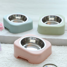 Load image into Gallery viewer, Pastel Listed Feed Station with Stainless Steel Bowls