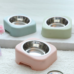 Pastel Listed Feed Station with Stainless Steel Bowls
