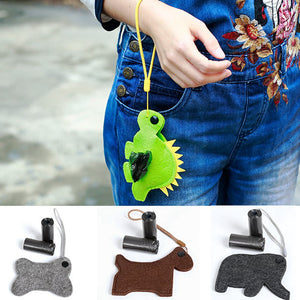 Cute Animal Shape Dog Waste Bags Dispenser