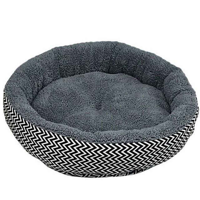 Cozy Round Plush Puppy/Small Dog Bed