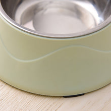 Load image into Gallery viewer, Colored Shell Stainless Steel Pet Feeder Dishes