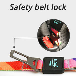 Dual Function Comfortable Control Leash With Car Seat Belt Clip