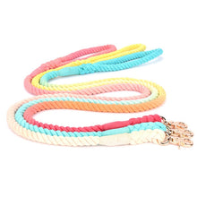 Load image into Gallery viewer, Gradient Color Hand-dyed Woven Cotton Rope Fashion Leash