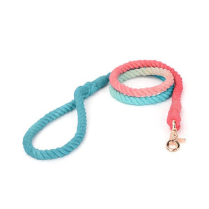 Gradient Color Hand-dyed Woven Cotton Rope Fashion Leash
