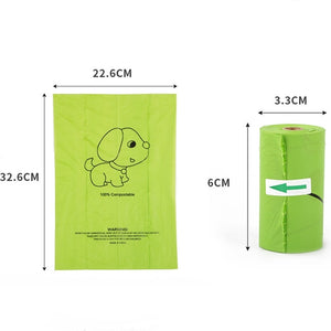 4pcs Biodegradable Dog Waste Bag Dispenser with 3-Rolls of Earth-Friendly Bag