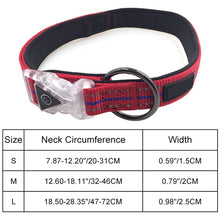 Load image into Gallery viewer, Waterproof LED Luminescent Adjustable Nylon Collar