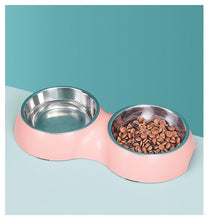 Load image into Gallery viewer, Pet Bowl Double Bowl Stainless Steel Dog Bowl Anti-tipping Pet Food Utensils  Dog Bowl Cat Bowl