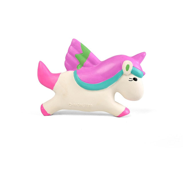 Super Durable Cute Unicorn & Star Rubber Squeaky Chew Toys