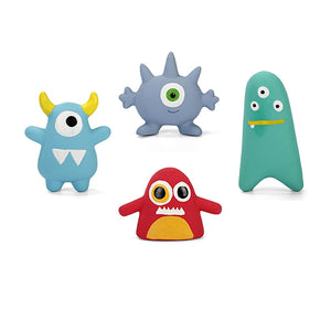 Super Durable Cute Monster Rubber Squeaky Chew Toys