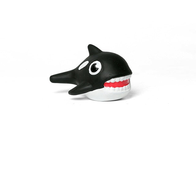 Super Durable Whale Rubber Squeaky Chew Toys