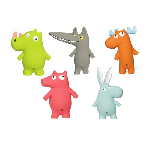 Super Durable Monster Rubber Squeaky Chew Toys