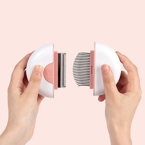 Compact Dual-Function Stainless Steel Hair Remover Brush