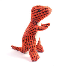 Load image into Gallery viewer, Plush Dino Squeaky Chew Toy