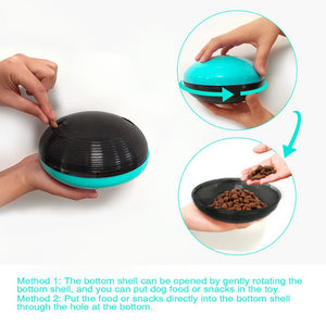 Interactive Squeaky Treat Dispenser Dog Chew Toy