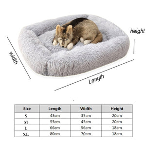 Long Plush Square Dod Sleeping Cushion