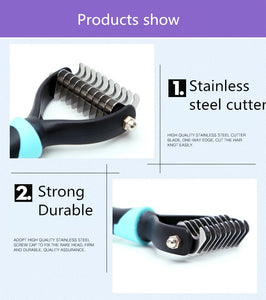 Knotted Hair Grooming Pet Brush