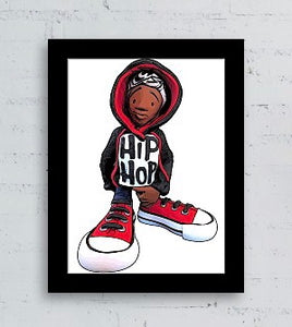 """Hip Hop"" (Boy) Card Stock Print"