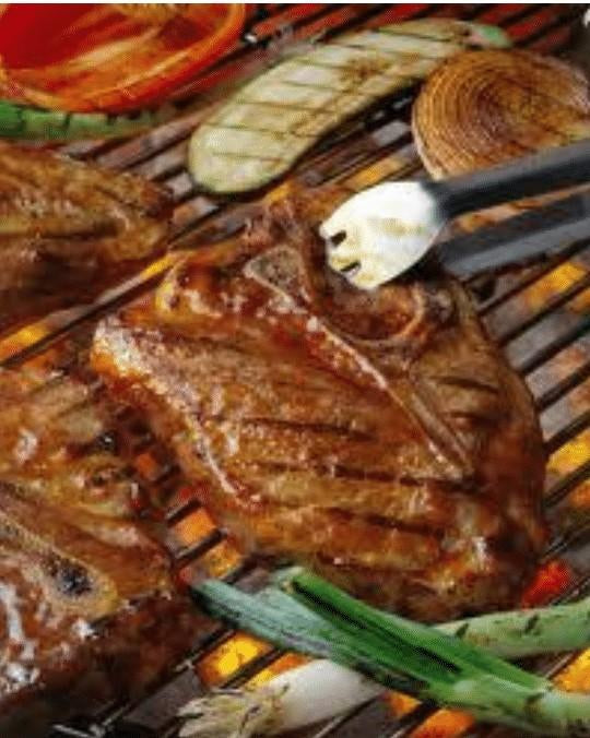 Grilled Fajita Pork Chop Salad
