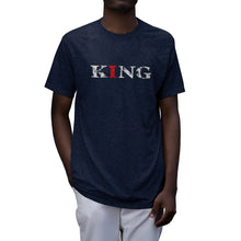 Load image into Gallery viewer, Christ-Centered, Legacy-Minded, King - Men's Tri-Blend T-Shirt
