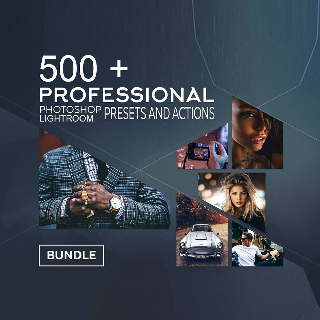 500+ Professional Photoshop & Lightroom Actions and Presets