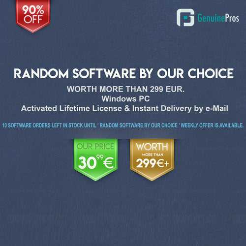 Week 3: Lifetime Random Software by Our Choice for Windows | 10 in Stock, Weekly Offer