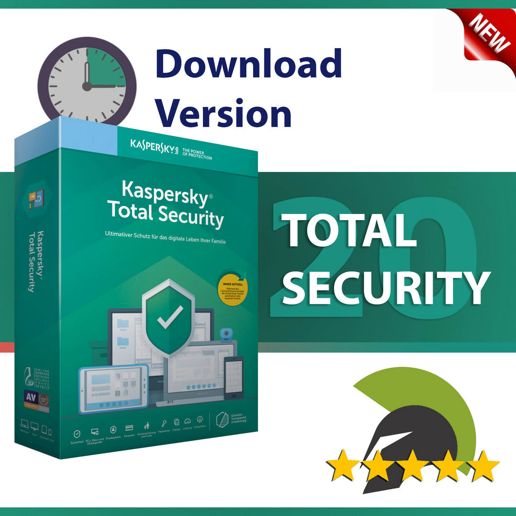 Kaspersky Total Security 2020 - 5 Devices / 1 Year