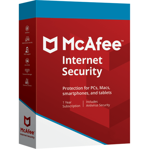 McAfee Internet Security 2019 Anti Virus Software 1 Year License 2 Users/PC