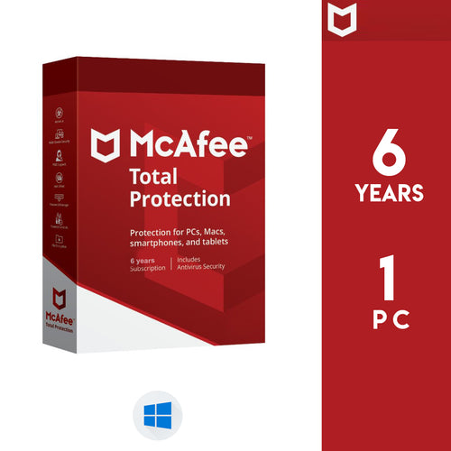 McAfee Total Protection 2020 - 6 Years / 1 PC