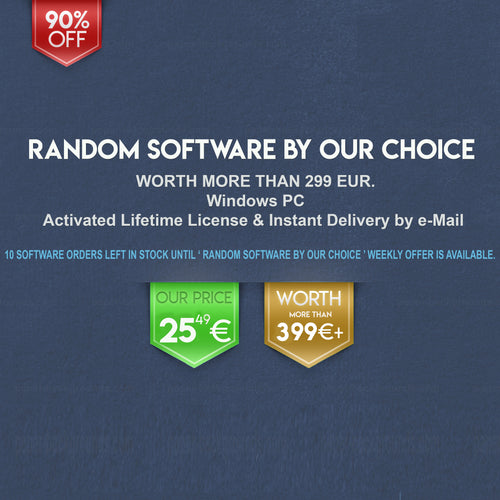 Week 1: Lifetime Office Random Software by Our Choice for Windows | 10 in Stock, Weekly Offer